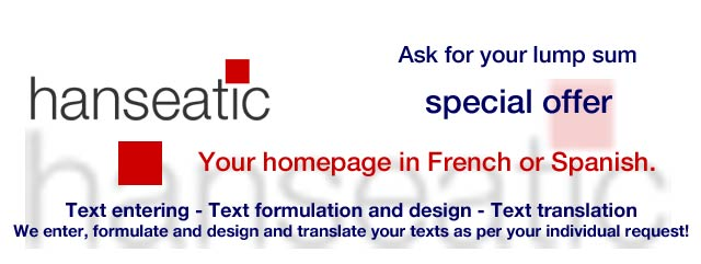 Special Offer hanseatic text+translation